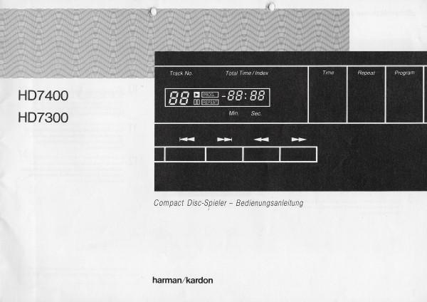 Harman/Kardon HD7300/HD7400 Bedienungsanleitung