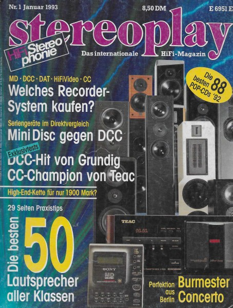 Stereoplay 1/1993 Cover