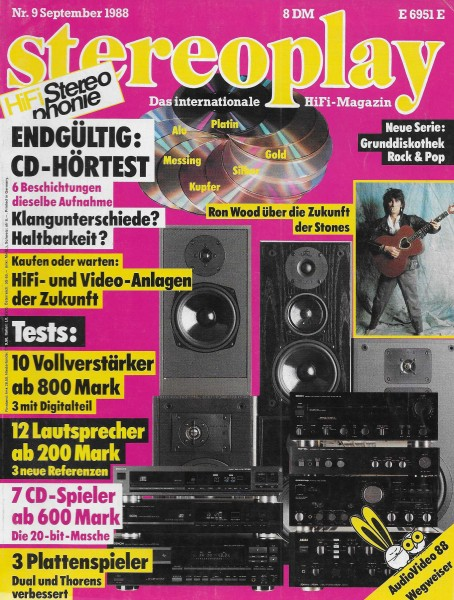 Stereoplay 9/1988 Cover
