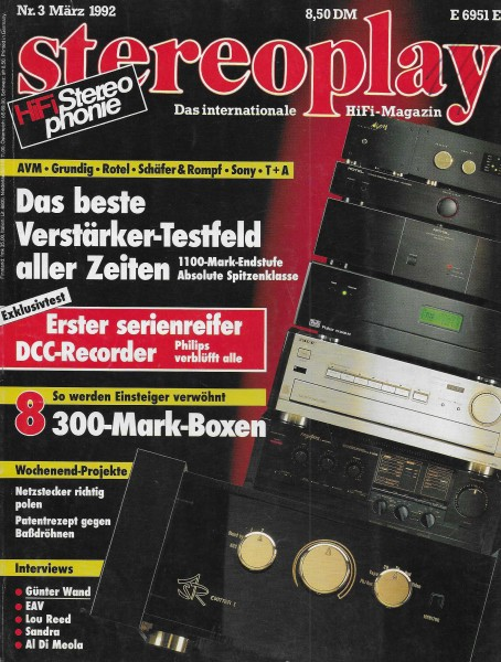 Stereoplay 3/1992 Cover