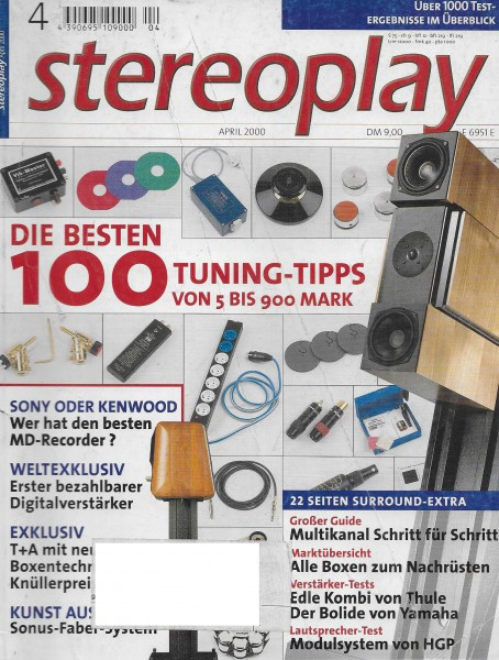 Stereoplay 4/2000 Cover