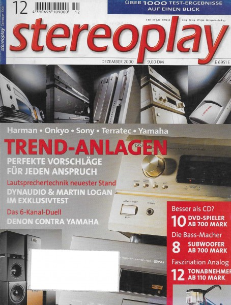 Stereoplay 12/2000 Cover