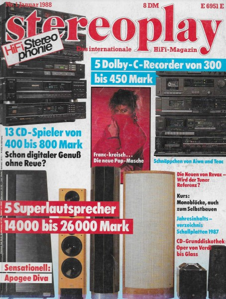 Stereoplay 1/1988 Cover