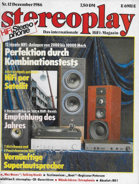 Stereoplay 12/1986 Cover