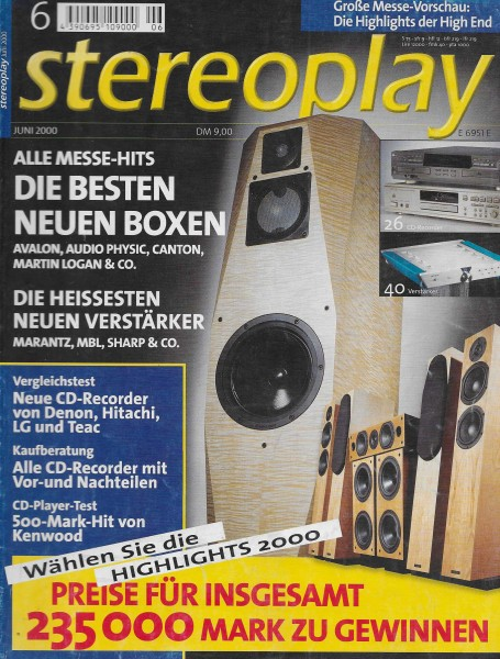 Stereoplay 6/2000 Cover