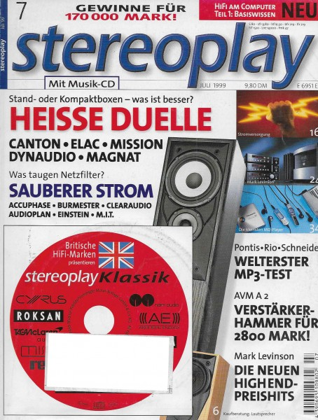 Stereoplay 7/1999 Cover