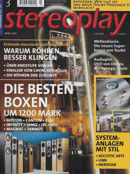 Stereoplay 3/2001 Cover