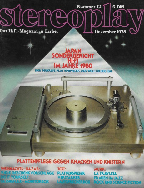 Stereoplay 12/1978 Cover