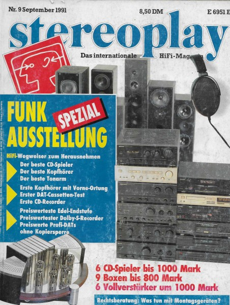 Stereoplay 9/1991 Cover