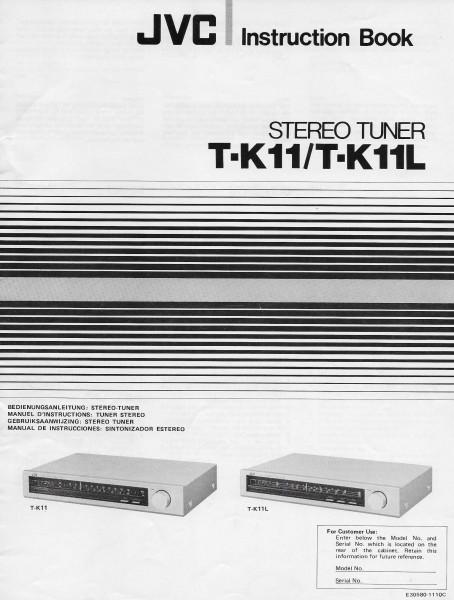 JVC T-K11/L Bedienungsanleitung