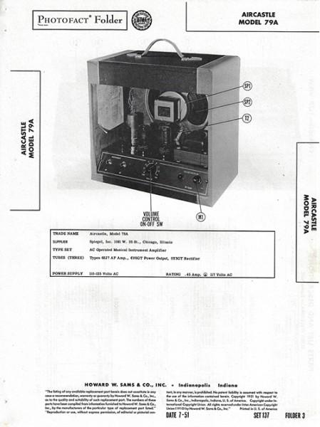 Aircastle 79A - Photofact - Schematic Set 137/Folder 3