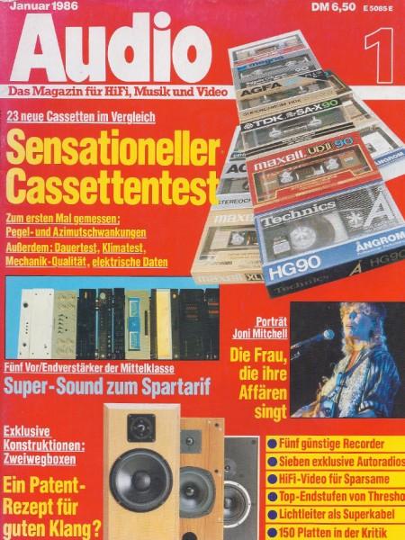 Audio 1/1986 Zeitschrift