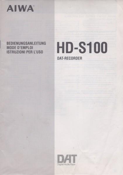 Aiwa HD-S100 Bedienungsanleitung