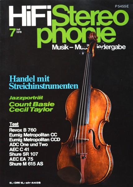 Hifi Stereophonie_7/1978 Zeitschrift_1
