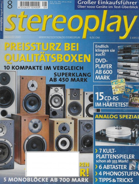 Stereoplay 8/2001 Cover