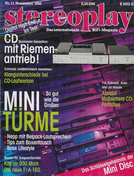 Stereoplay 11/1992 Cover