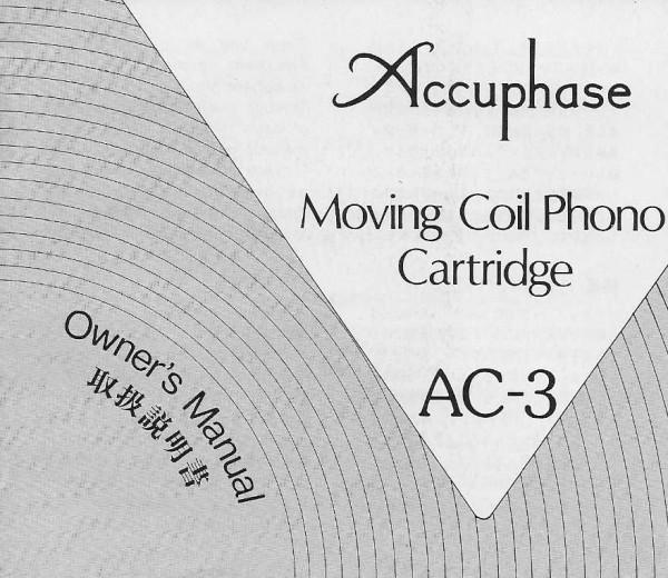 Accuphase AC-3 Bedienungsanleitung