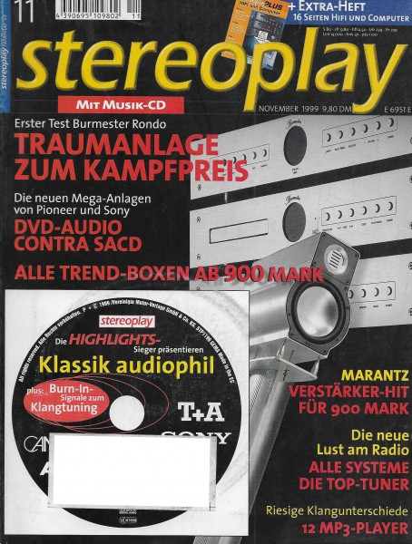 Stereoplay 11/1999 Cover