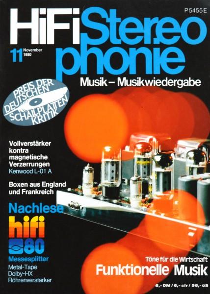 Hifi Stereophonie_11/1980 Zeitschrift_1