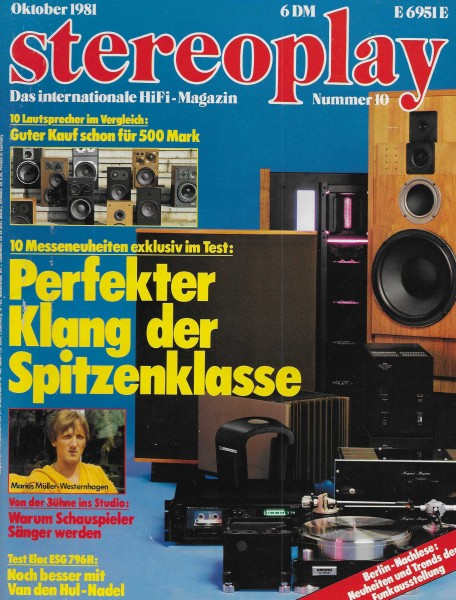 Stereoplay 10/1981 Cover