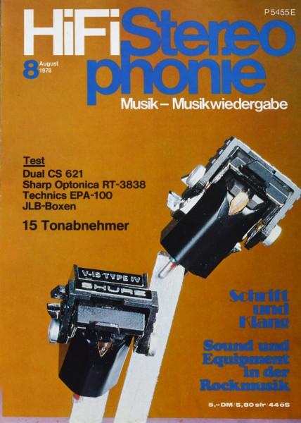 Hifi Stereophonie_8/1978 Zeitschrift_1