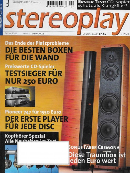 Stereoplay 3/2002 Cover
