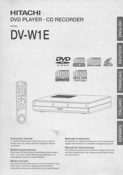 Hitachi DV-W1E Bedienungsanleitung