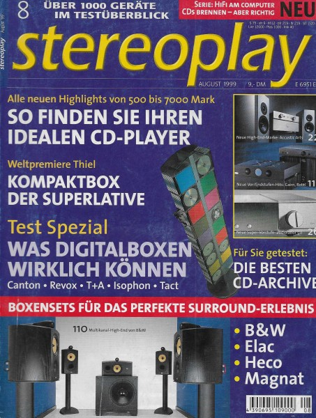Stereoplay 8/1999 Cover