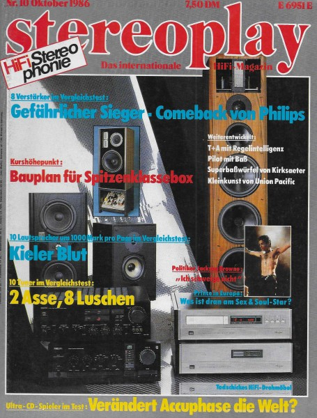 Stereoplay 10/1986 Cover