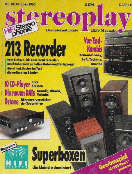 Stereoplay 10/1990 Cover