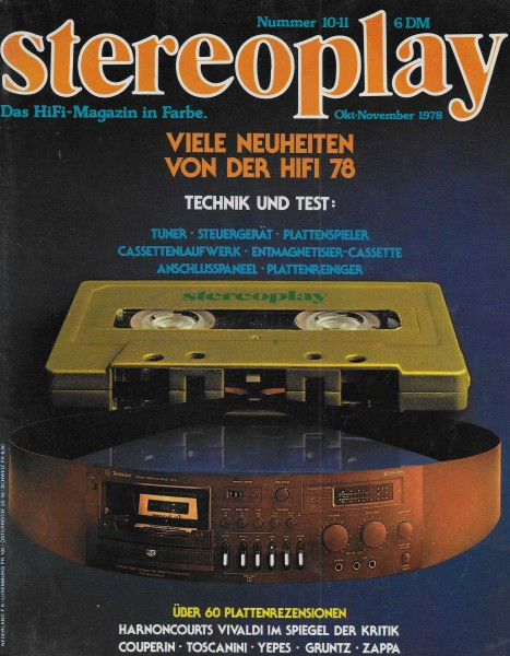 Stereoplay 10/11 1978 Cover