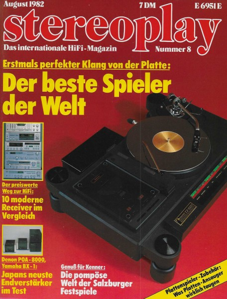 Stereoplay 8/1982 Cover