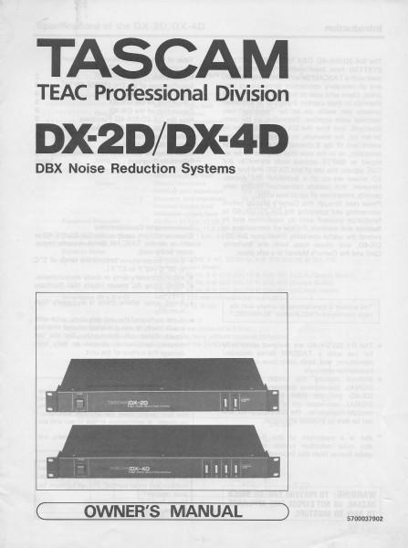 Tascam DX-2D / DX-4D Bedienungsanleitung