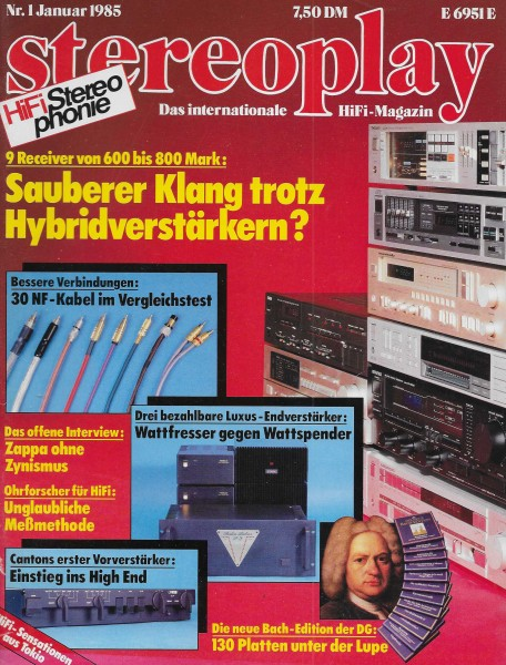 Stereoplay 1/1985 Cover