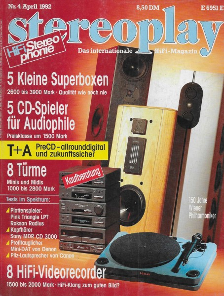 Stereoplay 4/1992 Cover