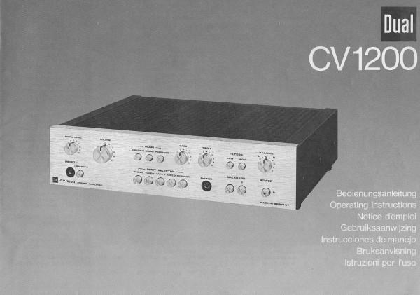 Dual CV 1200 Bedienungsanleitung