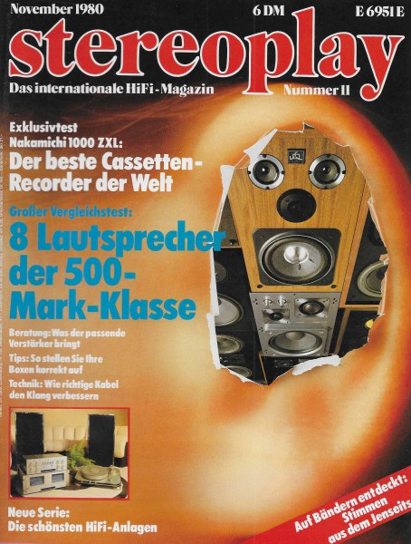 Stereoplay 11/1980 Cover