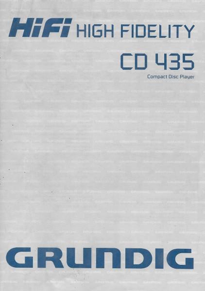 Grundig CD 435 Bedienungsanleitung