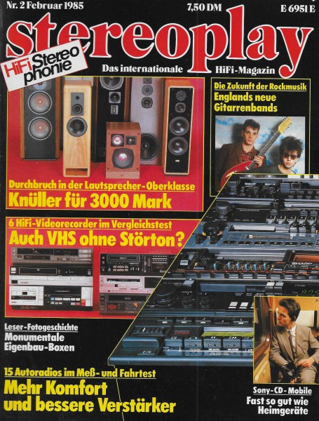 Stereoplay 2/1985 Cover
