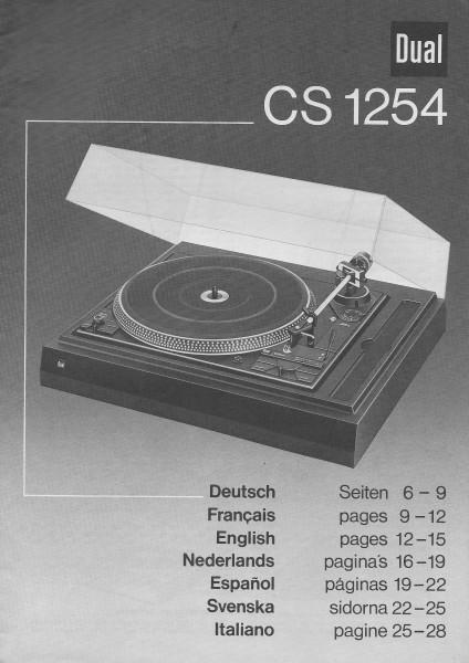 Dual CS 1254 Bedienungsanleitung