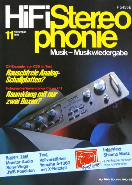 Hifi Stereophonie_11/1981 Zeitschrift_1