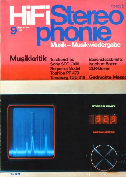 Hifi Stereophonie_9/1974 Zeitschrift_1