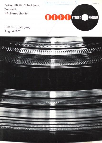 Hifi Stereophonie_8/1967 Zeitschrift_1