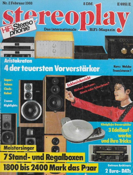 Stereoplay 2/1988 Cover
