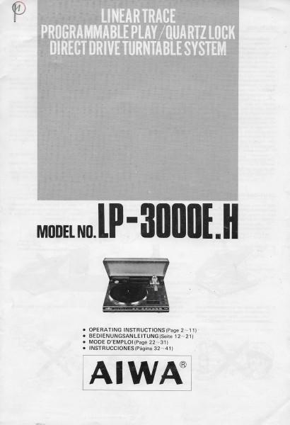 Aiwa LP-3000E.H Bedienungsanleitung