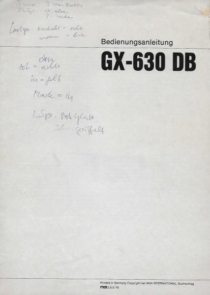 Akai GX-630 DB Bedienungsanleitung