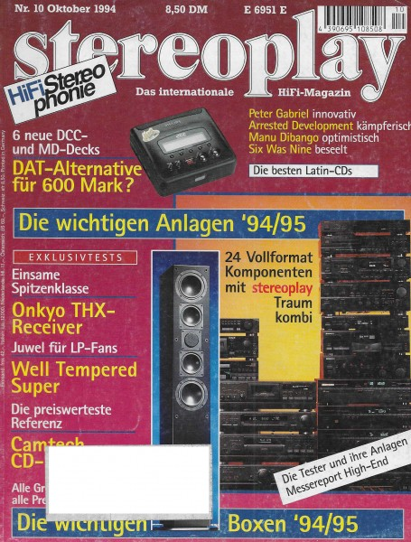 Stereoplay 10/1994 Cover
