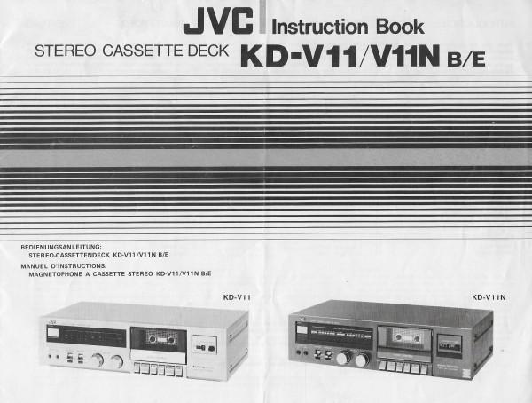 JVC KD-V11/V11N B/E Bedienungsanleitung