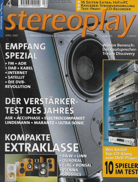 Stereoplay 4/2001 Cover