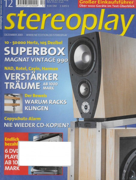 Stereoplay 12/2001 Cover